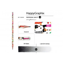 "Карандаш графитный ""Happy Graphix"" ТАКСЫ НВ"