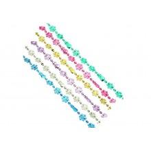 Бусы декоративные  2м, пластик 6цветов