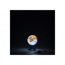 Глобус 15 см физ.-политический Классик Евро с подсветкой