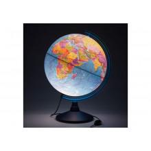 Глобус 40 см политический  Классик Евро с подсветкой