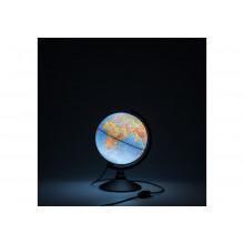 Глобус 21 см физический  Классик с подсветкой