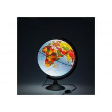 Глобус 32 см физ.-политический Классик с подсветкой