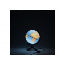 Глобус 21 см физический  Классик Рельефный с подсветкой