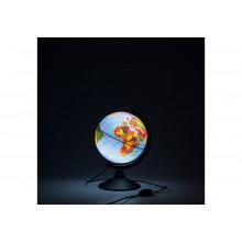Глобус 21 см физ.-политический Классик Рельефный с подсветкой