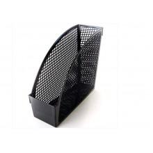 Лоток верт. ЭКОНОМ черный INDEX шир 9 см, с передн. стенкой