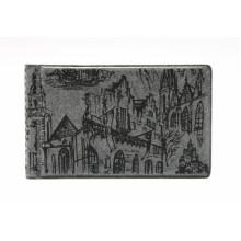 Кляссер для 28 дисконтных и визитных карточек, с городом серый ДПС