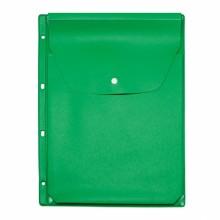 Файл-вкладыш расширяющ. цветн. с кнопкой 4 отв. ярко-зеленый ДПС