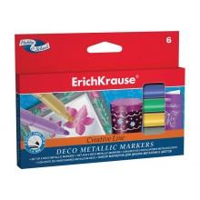 Фломастеры 6цв Erich Krause metallic Easy (для декора)
