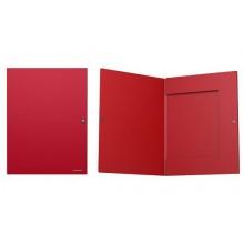 Папка на кнопке А4 с 3 клапанами (корешок 8мм)  CLASSIC красный