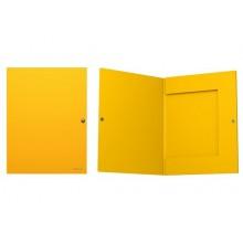Папка на кнопке А4 с 3 клапанами (корешок 8мм)  CLASSIC желтый
