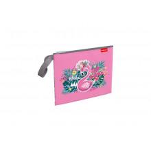 Папка на молнии А5+ текстильная Rose Flaming  ErichKrause