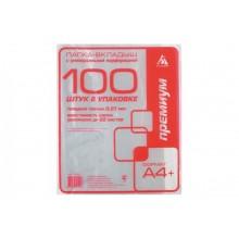 Файлы А4+ 30мкр премиум глянец (100 шт) Бюрократ