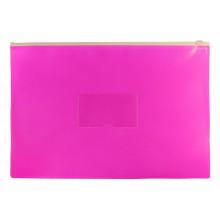 Папка на молнии А4 ZIP полипропилен карман, розовый