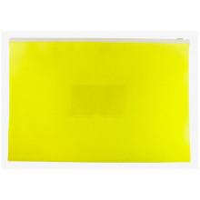 Папка на молнии А4 ZIP полипропилен карман, желтый