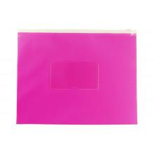 Папка на молнии А5 ZIP полипропилен карман, розовый