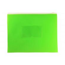 Папка на молнии А5 ZIP полипропилен карман, салатовый