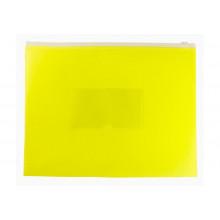 Папка на молнии А5 ZIP полипропилен карман, желтый