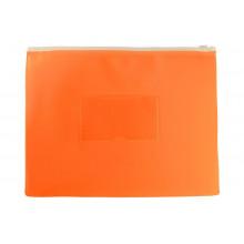 Папка на молнии А5 ZIP полипропилен карман, оранжевый