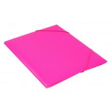 Папка на резинке  А4 30мм 0,5мм розовый