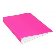 Папка с мет.прижимом А4 0.70мм  розовый