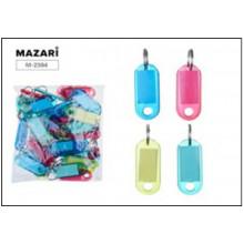 Брелок-индификатор  50*20мм д/ключей цветные, MAZARI