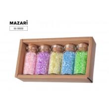 Бисер в наборе №1, 5 цветов x 13 г, стеклянная колба / картонная коробка