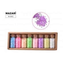 Бисер в наборе № 3, 8 цветов x 13 г, стеклянная колба / картонная коробка