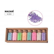 Бисер в наборе № 4, 8 цветов x 15,5 г, стеклянная колба / картонная коробка
