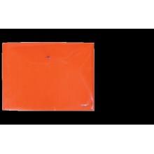 """Папка на кнопке А4 """"Clear Bag Proff"""" 0.20мм матовая красная"""