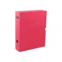 Архивный короб с клапаном 75мм, до700л микрогофрокартон красный Office Space