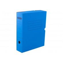 Архивный короб с клапаном 75мм, до700л микрогофрокартон синийOffice Space