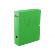 Архивный короб с клапаном 75мм, до700л микрогофрокартон зеленый Office Space