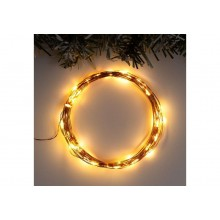 """Гирлянда """"Нить"""" 5м роса,медная нить LED-50 свечение теплое белое"""