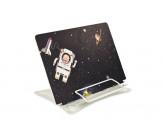 Подставка д/книг КОСМОНАВТ (27.5x19.1x20 см, окрашенный чёрный металл,