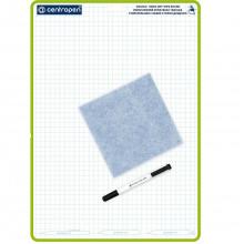 Доска для рисования А3 .7789  2х-стороняя стираемая + маркер Centropen