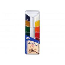 Краски 12цв (Лицей)  акварель пластик Гамма