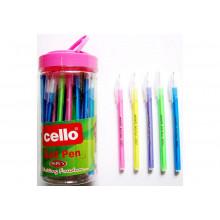 """Ручка """"Cello"""" шариковая 8007 синяя корпус ассорти"""