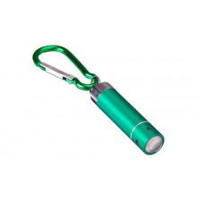 Брелок-фонарик с линзой 1 светодиод, с карабином, пластик,металл