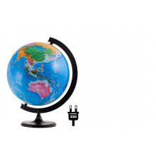 """Глобус 32 см политический """"Глобусный мир"""" с подсветкой"""