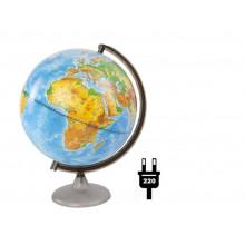 """Глобус 25см физический """"Глобусный мир"""" с подсветкой"""