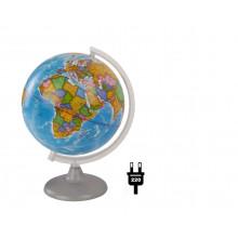 """Глобус 25 см политический """"Глобусный мир"""" с подсветкой"""
