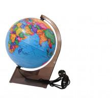 """Глобус 21см политический """"Глобусный мир"""" на треугольной подставке с подсветкой"""