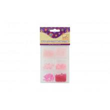 Бусины МИКС-1 пластик 6размеров, 40г (розовый, голубой) FANCY CREATIVE