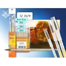 Кисти в наборе белка 3шт. №1,2,3  TZ7679