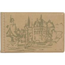 Кляссер для 28 дисконтных и визитных карточек, с городом бежевый ДПС