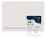 Настольное покрытие с линейкой 30 см, 655*475мм, прозрачное ДПС