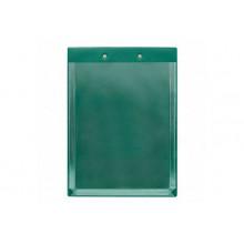 Планшет А4 с расширяющим карманом и прижимом зеленый ДПС