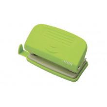 Дырокол 10л. deVENTE Neon пластик.с линейкой неоновый зеленый