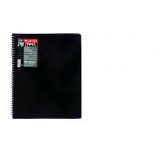 Дисплей книга А4 20ф  на спирали MEGAPOLIS черн 0,60мм+0,05мм