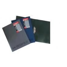Папка с внутр.бок. зажимом и карманом А4 MEGAPOLIS черн.  0,60мм
